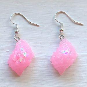 Seashell Earrings Pink Quartz Drupe Shell